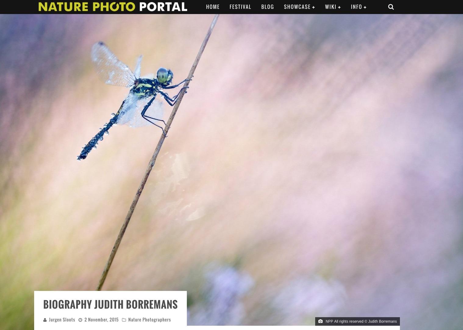 01-11-2015 Biografie Op Naturephotoportal