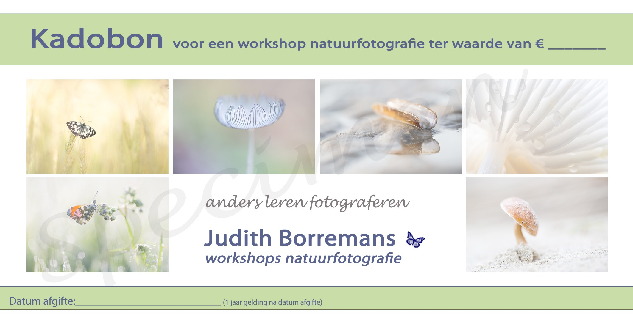 Kadobon Workshop Natuurfotografie